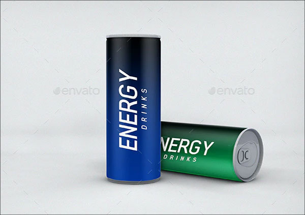 Sample Energy Drink Can Mockup