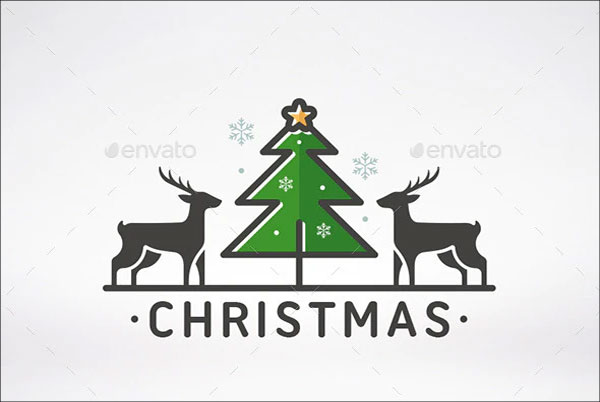 Sample Merry Christmas Logo Template