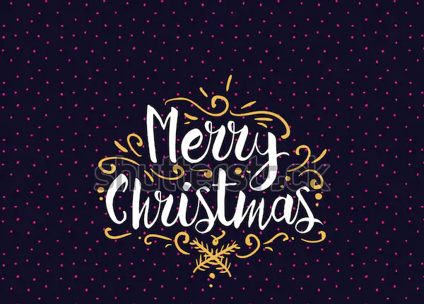 Sample Merry Christmas Text Logo Design