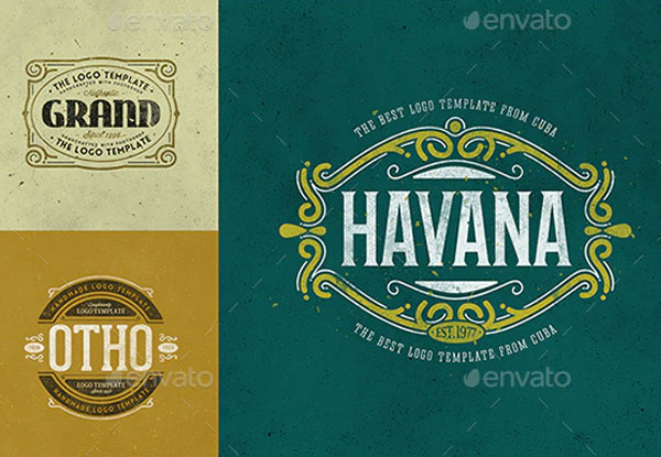 Sample Retro Logo Templates