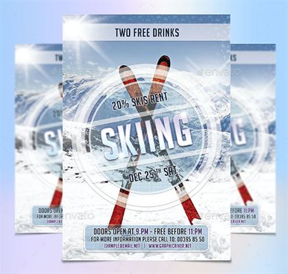 Sample Skiing Season Flyer Template