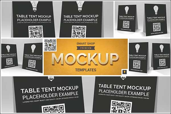 Sample Table Tent Mock-up Bundle