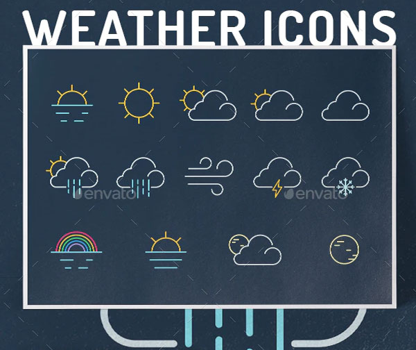 Sample Weather Icon set Template