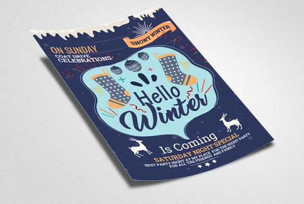 Sample Winter Season Flyer Template