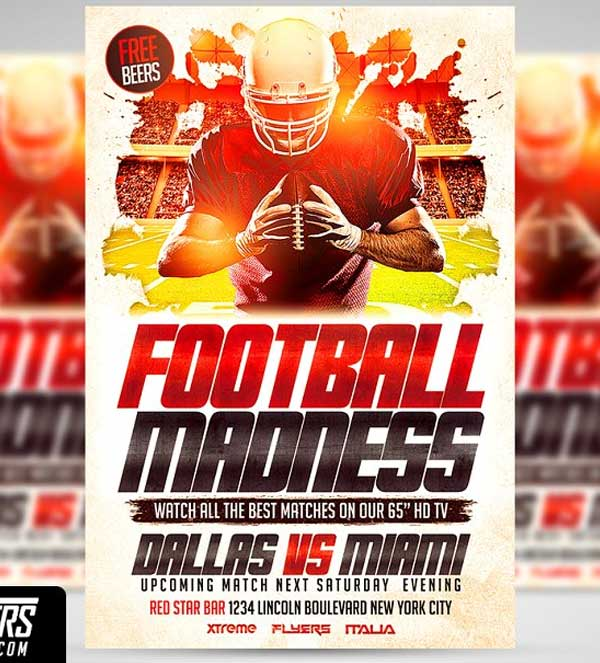Sample Football Flyer Templates