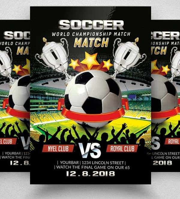 Sample Football Match Flyer Template