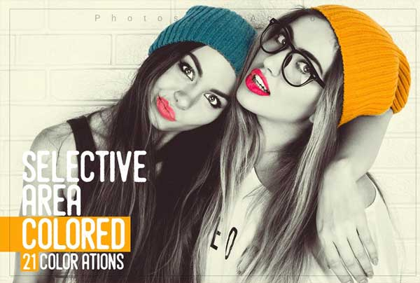 Selective Area Coloured Actions Bundle