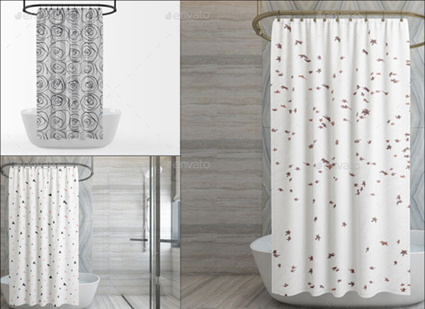 Shower Curtain Mockup Pack