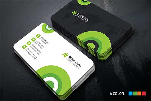 Simple Circle Business Card Mockup