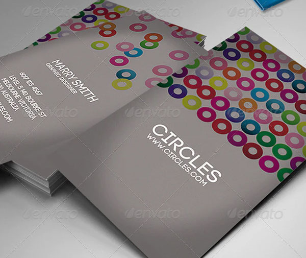 Simple Circles Business Card Mockup