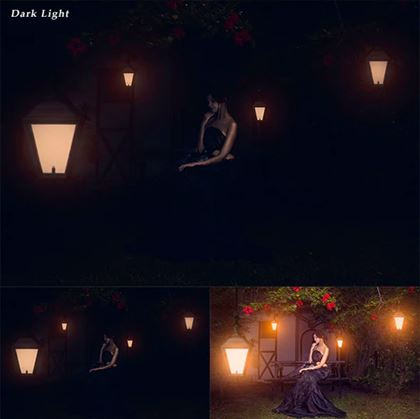 Simple Dark Light Photoshop Action