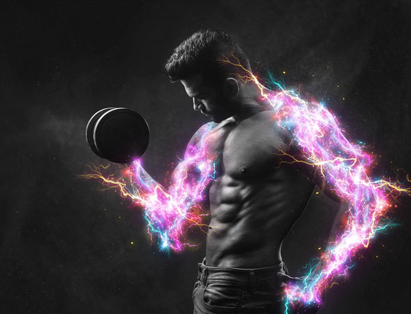 Simple Electric Energy Photoshop Action
