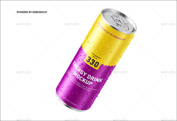 Simple Energy Drink Can Mock-up