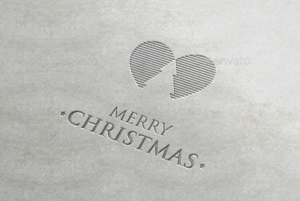 Simple Merry Christmas Logo Template