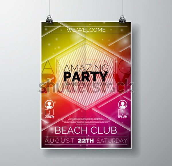 Simple Party Flyer poster template