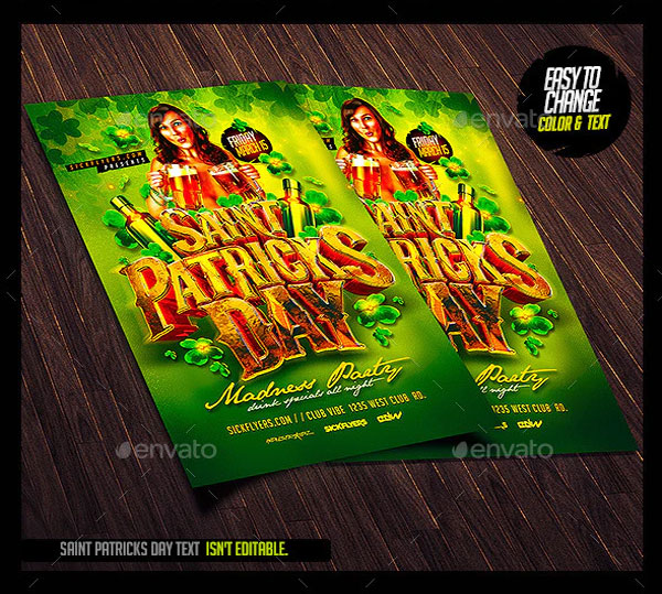 Simple St Patricks Day Flyer