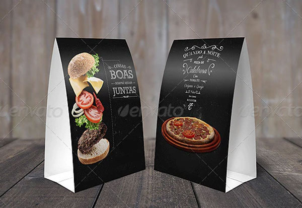 Simple Table Tents Mock Up Template