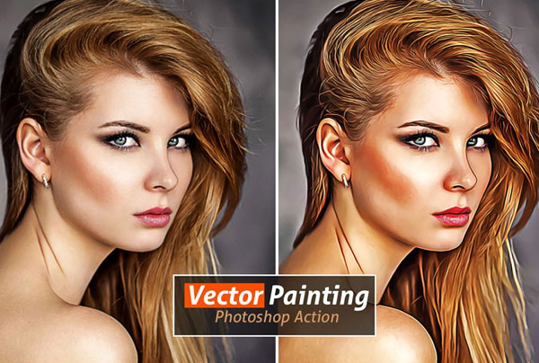 Simple Vector Paint Photoshop Action