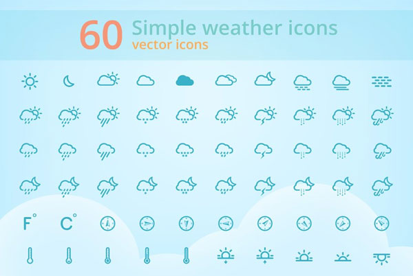 Simple Weather Icons