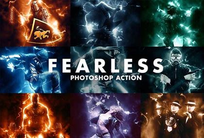 Simple Fearless Photoshop Action