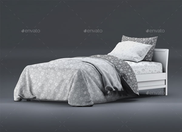 Single Bedding with Mattress Mock-Up