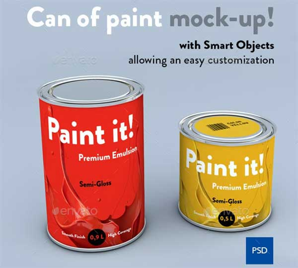 Smart Paint Can Mock-up