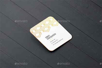 Smart Square Business Card Mockup