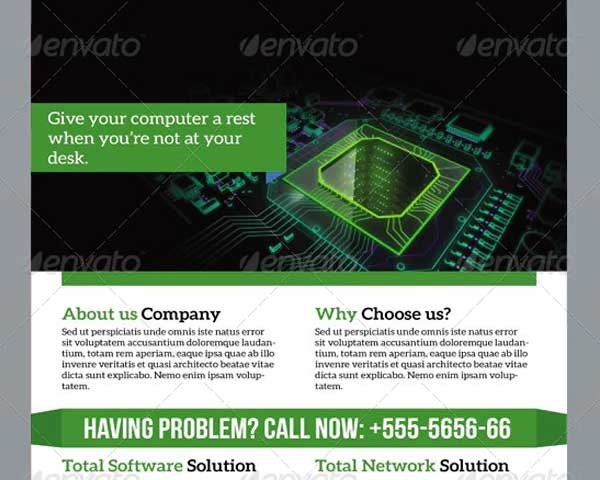 Software Solution Flyer Printable Template