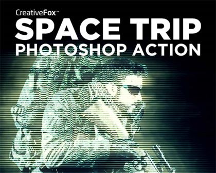 Space Trip Photoshop Poster Action