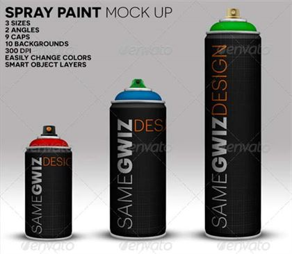 Spray Paint Can Mockup