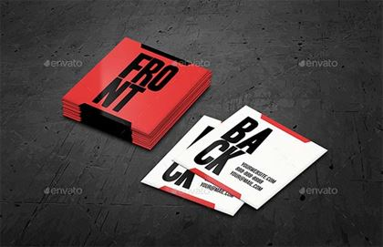 Square Business Card Mockups Template