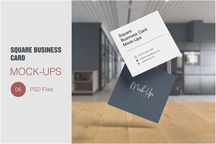 Square Business Smart Card Mockup