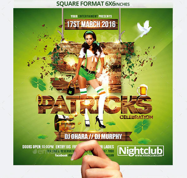 St Patricks Day Celebration Flyer Template