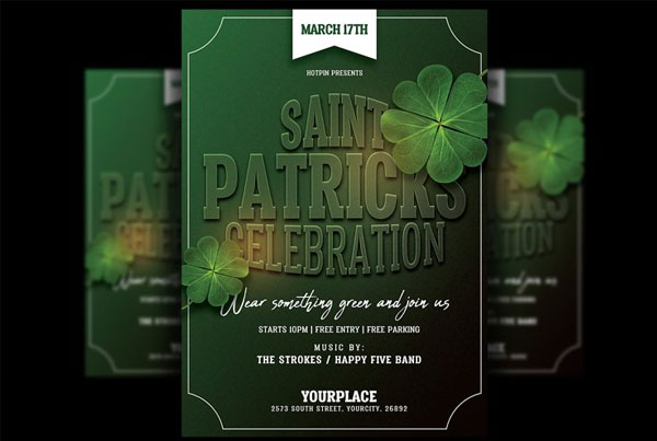 St. Patricks Celebration Day Flyer