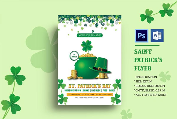 St. Patricks Day Flyer Photoshop Template
