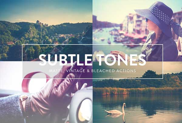 Subtle Tones Photoshop actions
