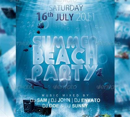 Summer Beach Party Flyer and Poster