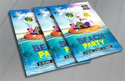 Summer Beach Party spring Flyer