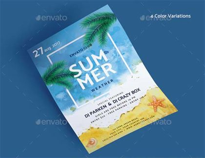 Summer Photoshop Flyer Template