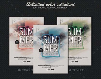 Summer Session Party Flyer Template
