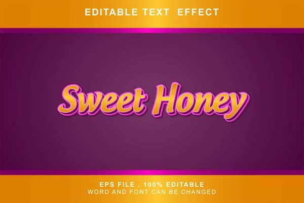 Sweet Honey Text Effects