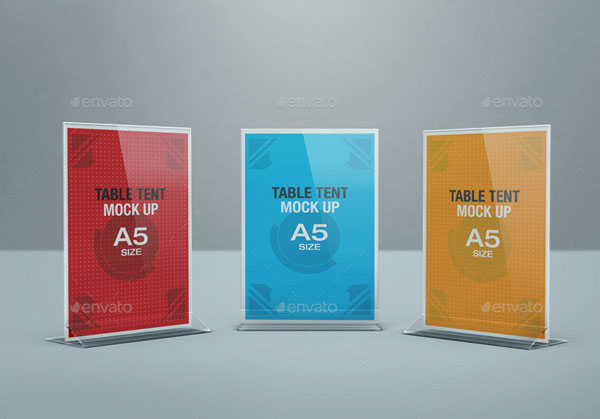 Table Tent Mock-up Bundle