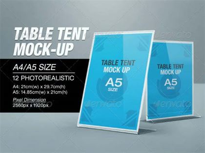 Table Tent Mock-up Design