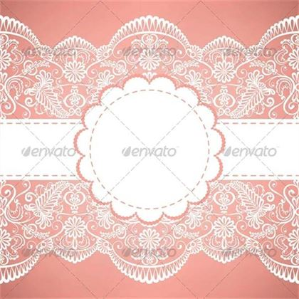 Template for Wedding Invitation Greeting Card