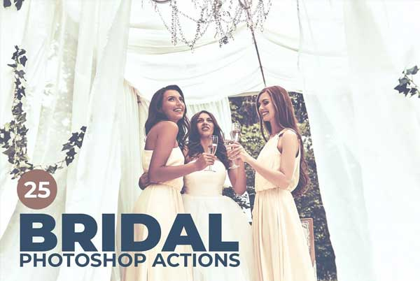 Toned Bridal Photoshop Actions