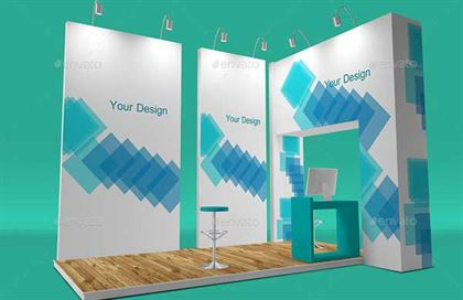 Trade Show Booth Best Mockup Template