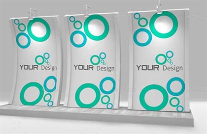 Trade Show Booth Display Mockup Template