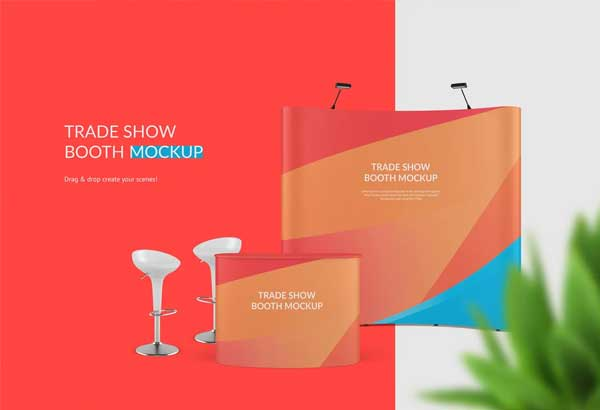 Trade Show Booth Mockup Customizable Template