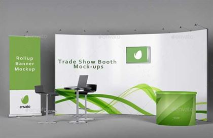 Trade Show Booth Mockups PSD Templates