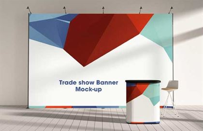 Trade-show Display Booth Mock-up Template